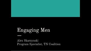 Engaging Men Webinar