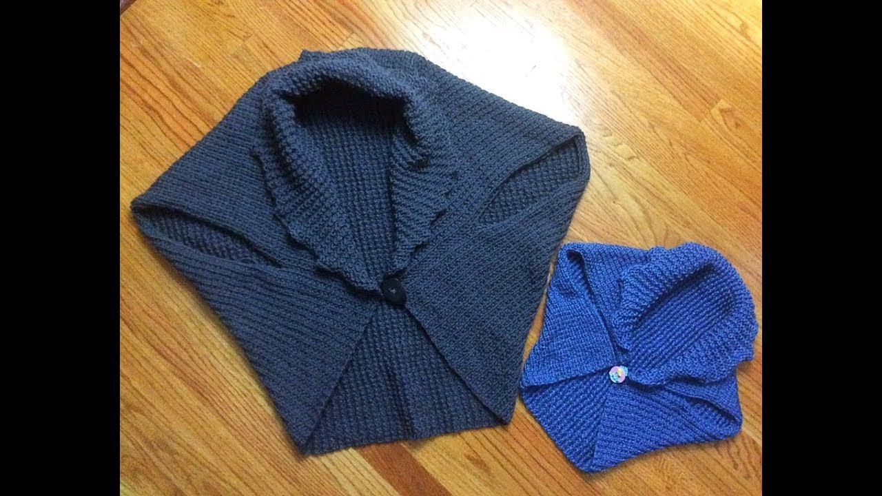 1cfd912c130a13 Knitted vest shrug. Complete tutorial. Great project for beginner ...