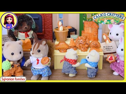 Brick Oven Bakery Setup and Silly Play Sylvanian Families Calico Critters - Kids Toys