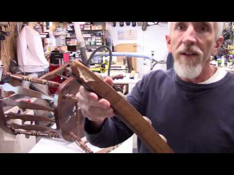 How to repair a rocking Chair. DIY~Replacing a rocker