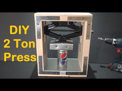 DIY 2 Ton Press machine - How to Make a Crushing Press Machine at Home