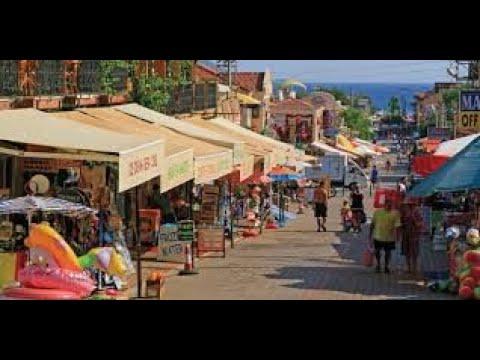Ölüdeniz Beach Market And Restaurants Oludeniz Fethiye Turkey
