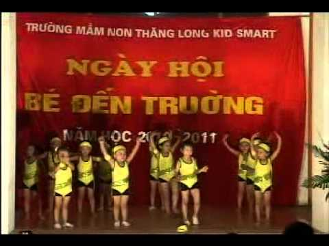 Trinh dien Earobic cua cac be  4-5 tuoi Truong mam non ThangLong KidSmart.avi