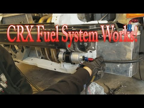 B20v CRX gets a new 1 gallon fuel cell part 1 - YouTube