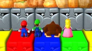 Mario Party 10 - Mario vs Luigi vs Donkey Kong vs Peach - Minigames