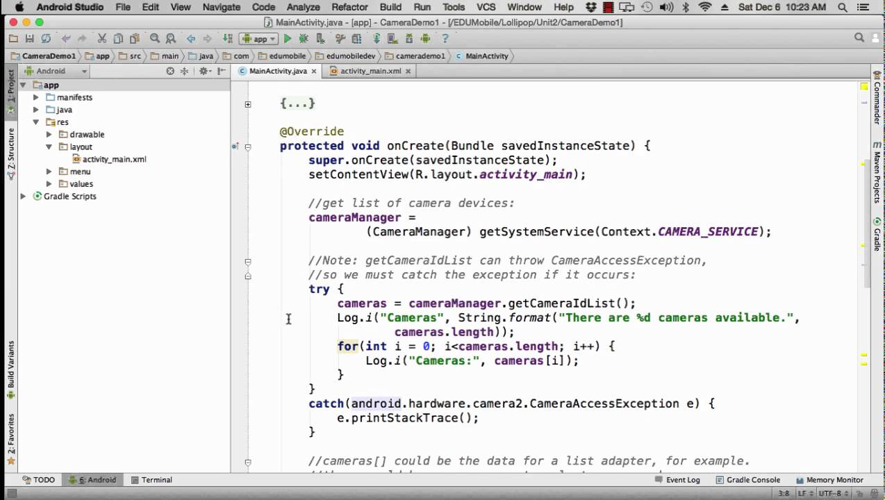 011 Camera Demo with Source Code (Android 5 0 Lollipop - Essential Training)