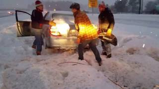 Helping people during the snow storms in NH