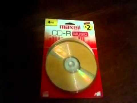 Maxell CD-R Music Unboxing