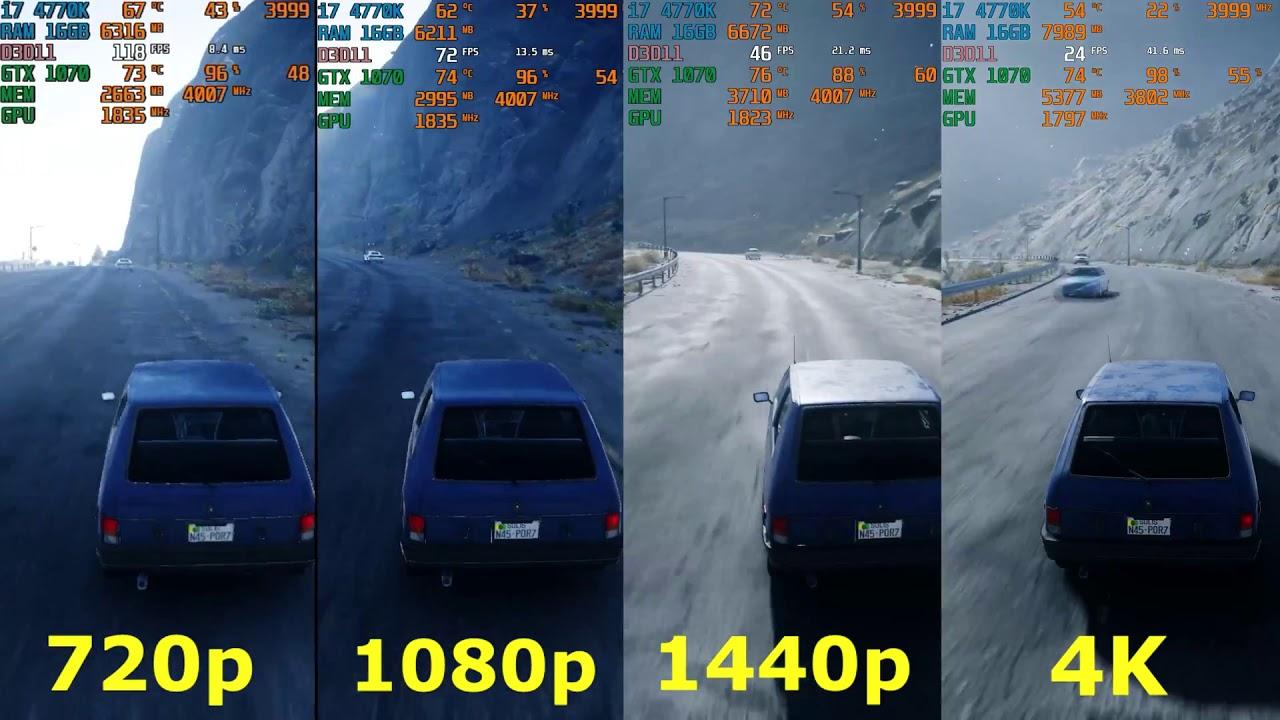 Just Cause 4 - 720p vs 1080p vs 1440p 2K vs 4k Resolution - Fps / Frame  Rate Comparison [4K]
