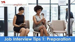 English Job Interview Tips 1 | Job Interview in English | Job Interview Preparation in English