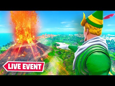 Fortnite *LIVE* Volcano Loot Lake Event Happening NOW!