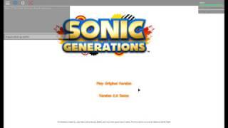 sonic the hedgehog roblox