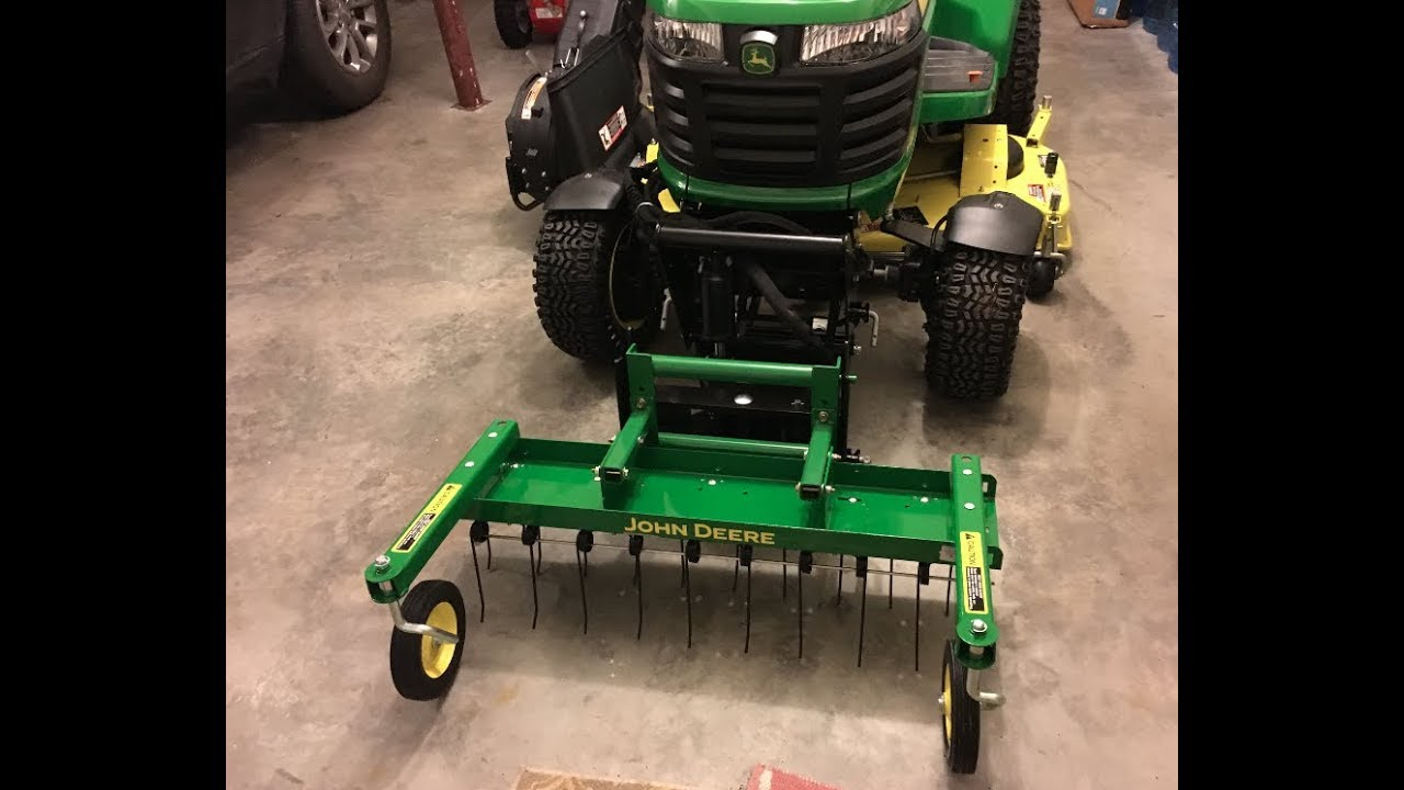 John Deere 2018 X739 Front Thatcher With Quick Hitch Attachment
