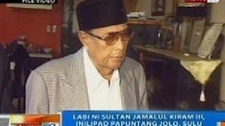 NTG: Labi ni Sultan Jamalul Kiram III, inilipad papuntang Jolo, Sulu para mailibing doon