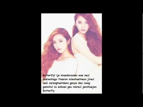 (Jung Sister) Jessica and Krystal- Butterfly LYRICS (To the Beautiful You)