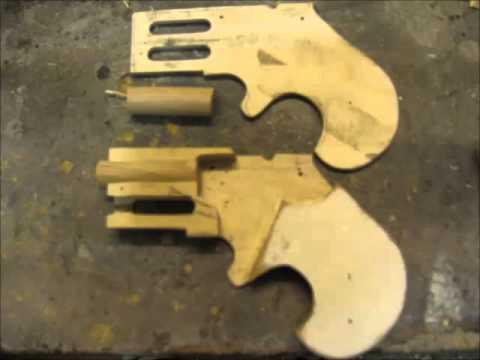 Rubberband Gun Typ Quot Derringer Quot Free Plans Youtube