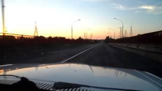 Въезжаем в город Южноукраинск Обгон на мосту ЮУ АЭС