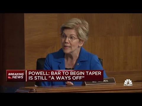 Sen. Elizabeth Warren asks Federal Reserve's Jerome Powell about bank policy
