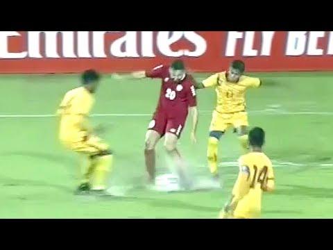 ملخص مباراة لبنان وسريلانكا | الأمطار الغزيرة تحول الملعب إلى بركة مياه | تصفيات كأس العالم 2022
