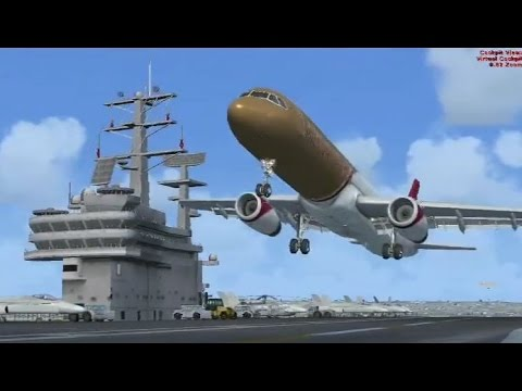 FSX Multiplayer Aircraft Carrier Landing Competition (Top 5)