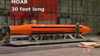 MOAB Mother of All Bombs on ISIS base | Largest non-nuclear weapon