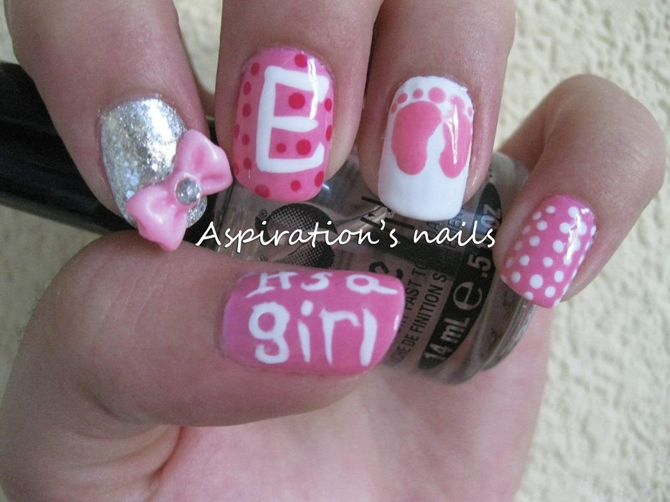 Its a girl nail art youtube prinsesfo Images