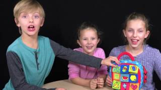 Learn English Shapes! Colorful Suitcase with Sign Post Kids!