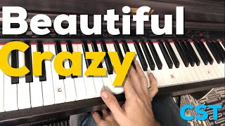 Beautiful Crazy   Luke Combs   Easy Piano Lesson Video