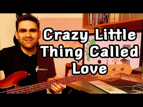 How To Play Crazy Little Thing Called Love On The Bass Guitar