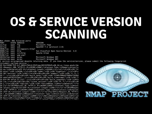 Nmap - OS And Service Version Scanning