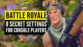 Fortnite Battle Royale | 8 Secrets and Settings for Console Players (PS4 & Xbox One) thumbnail
