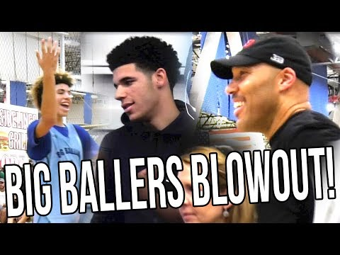 Big Ballers HAVING FUN in BLOWOUT in Front of Lonzo! Lavar Brings in ALL SUBS vs AUSTRALIAN TEAM!