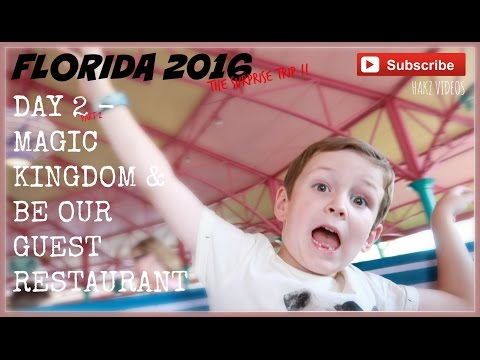 SURPRISE DISNEY VACATION 2016 - DAY 2 - MAGIC KINGDOM | BE OUR GUEST | INJURED ON SEVEN DWARFS (2/3)