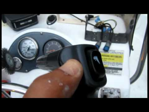 repair or change boats power tilt switch ptt switch trim - YouTube