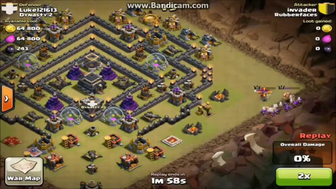 Clash of clans th9 clan wars base build youtube