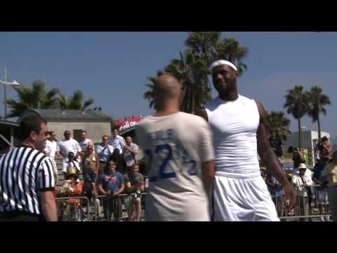 NBA Star LeBron James gets beat by David Kalb Horse in Venice, Cali.