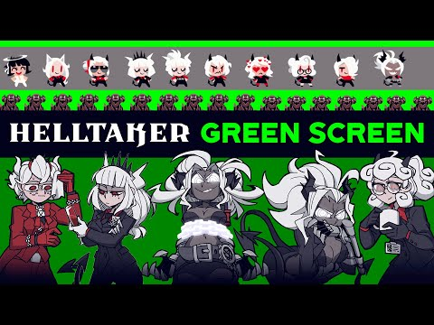 [Helltaker] Green Screen Compilation - (Glorious Success Dance , All Character chibi dance , etc.)