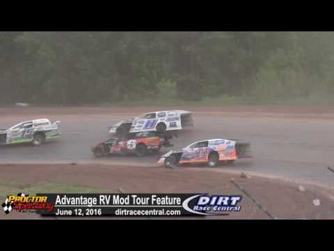 Proctor Speedway 6/12/16 Advantage RV Mod Tour Feature race for the lead