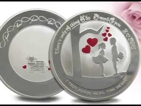 """I Love You"" 1oz 99.9% Fine Silver Coin"