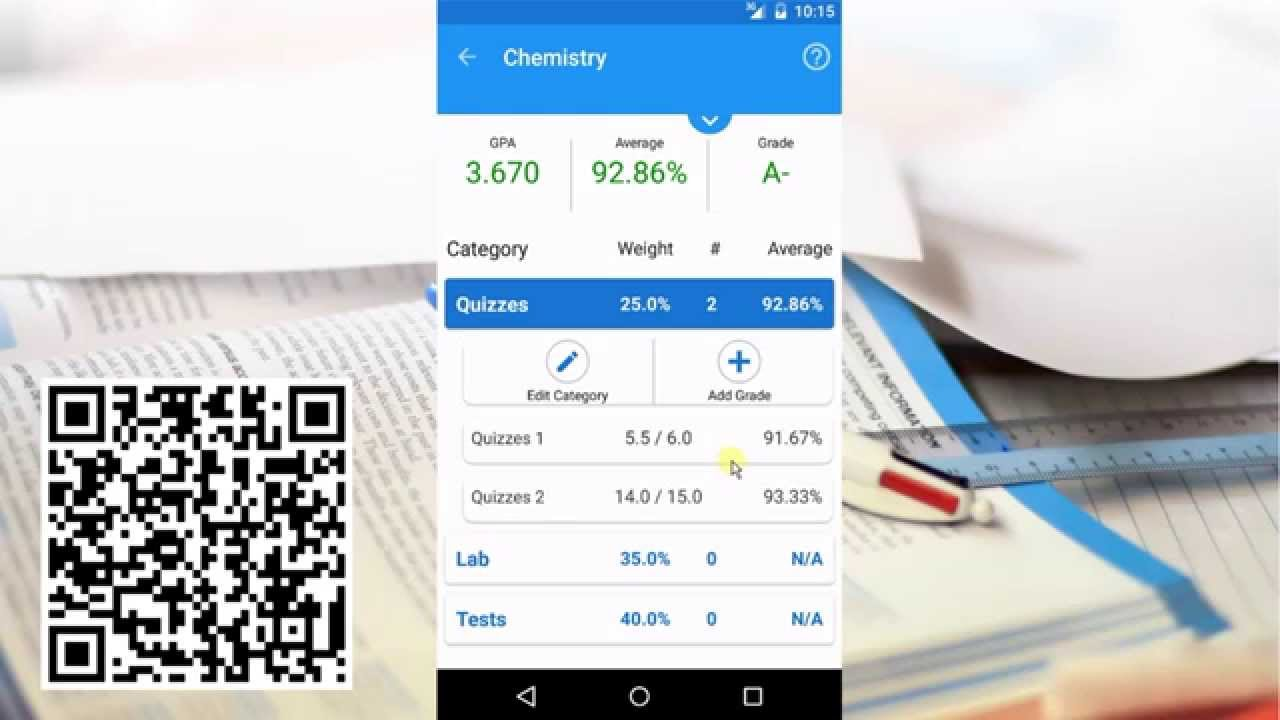 grade tracker pro quick start guide android app youtube