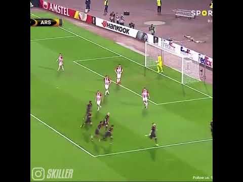 Olivier giroud scores an amazing goal in europa league