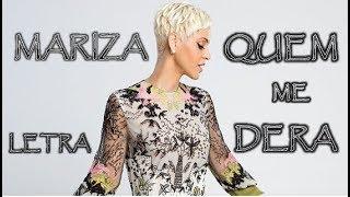 (LETRA / LYRICS) MARIZA - QUEM ME DERA