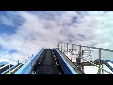 Log Flume Jungle River Waterchute Wild River Ride at Skegness Fairground - Logflume New 2015