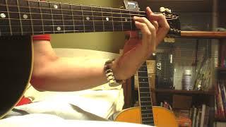ギターで「暴れん坊将軍」と自作の曲を家で弾いてみた。