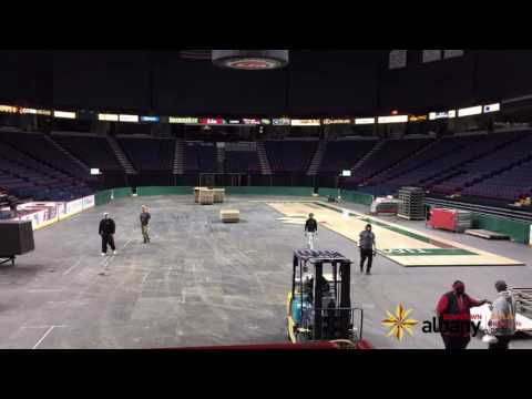 Time Lapse | Albany Devils to Siena Saints at Times Union Center