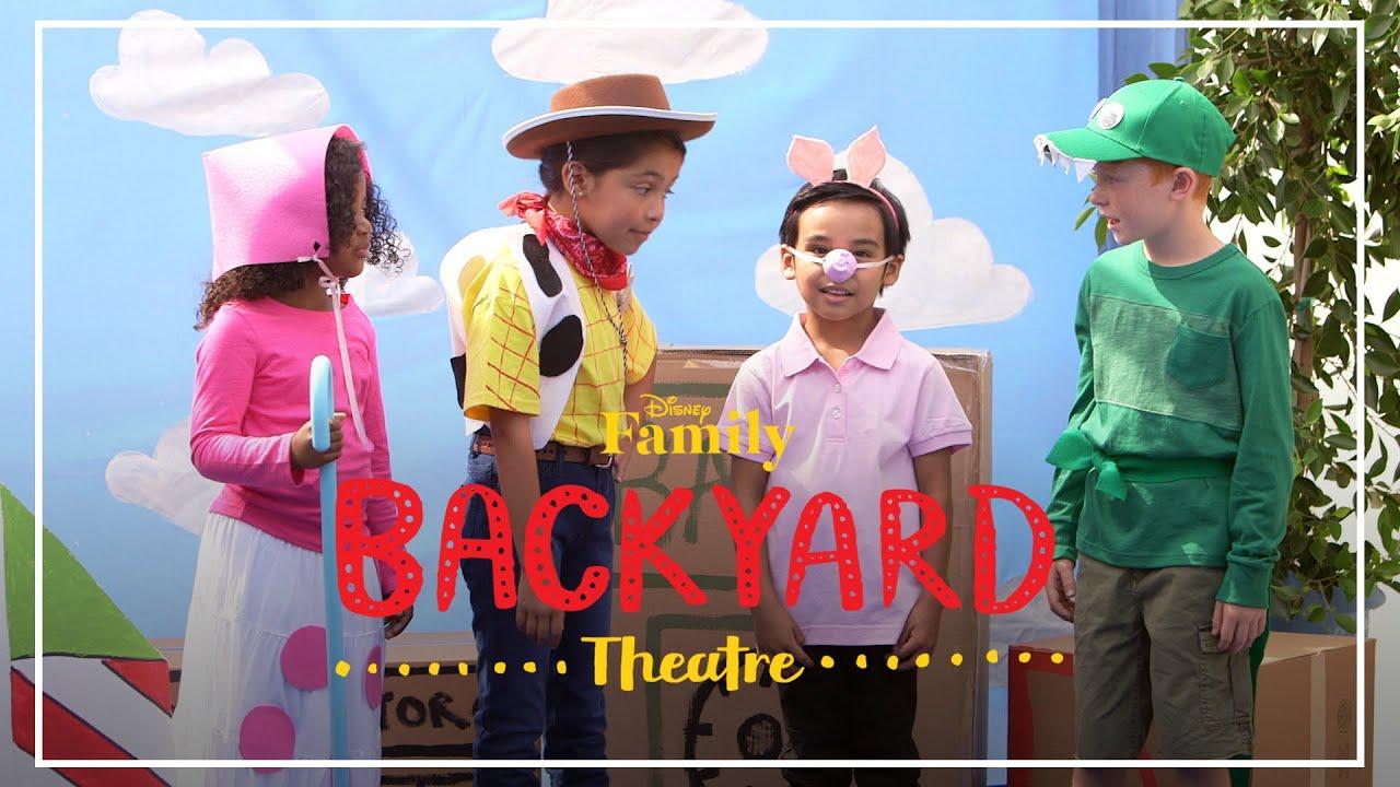 backyard theatre toy story performance disney family youtube