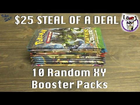 Steal Of A Deal $25 For 10 Random XY Booster Packs Pokemon Card Opening