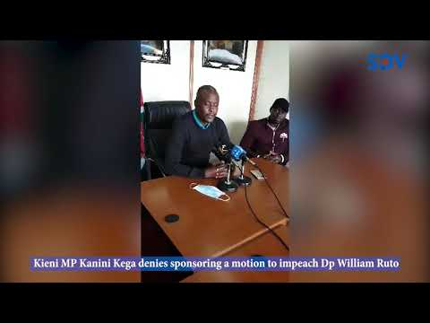 \'I don\'t think removing Ruto is part of the big four\'-Kanini denies sponsoring Dp Ruto\'s impeachment