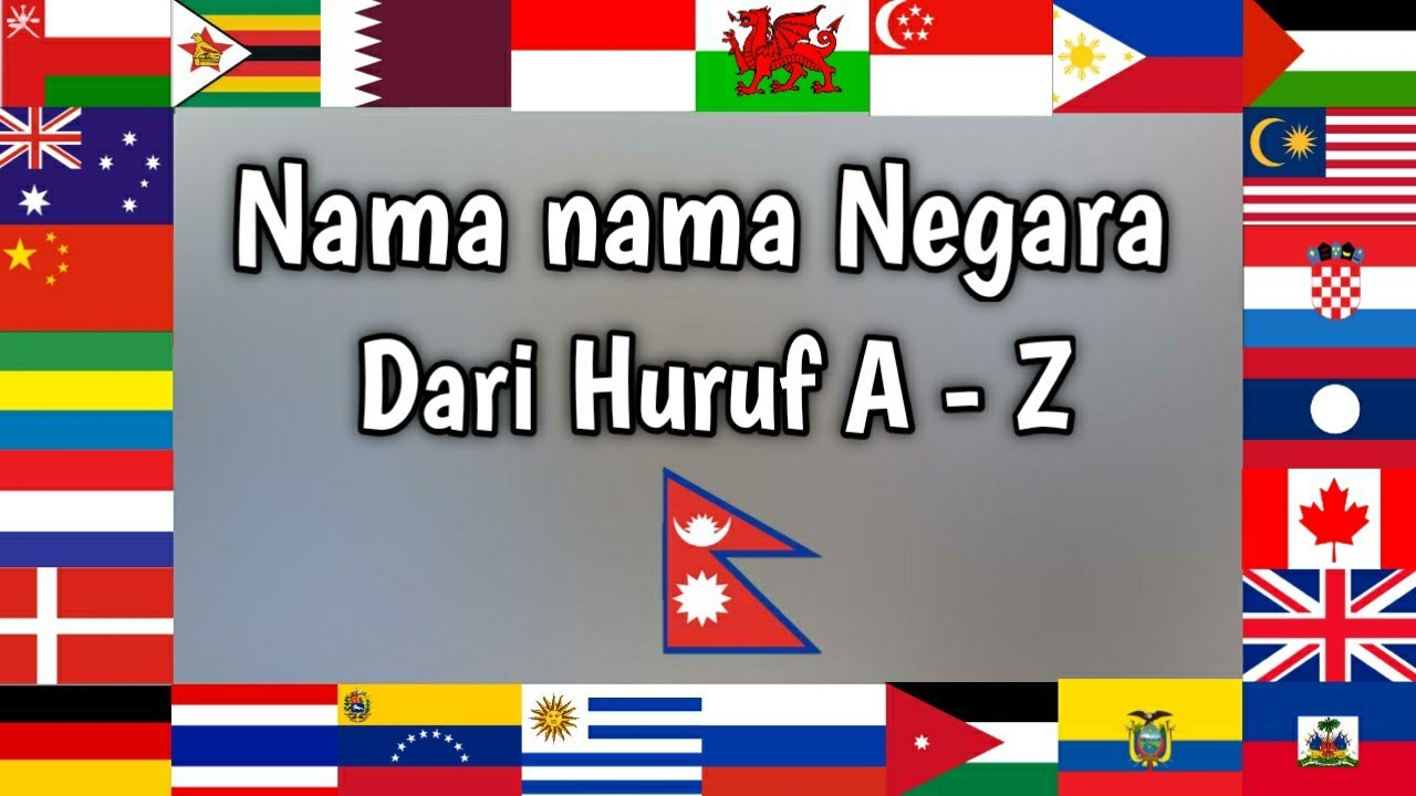 Macam Macam Bendera Negara Dan Namanya