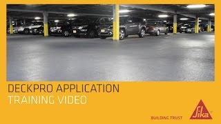 Sikalastic DeckPro Application